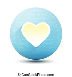 Round Icon with Heart