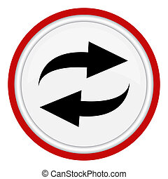 Round icon with two arrows.