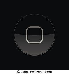 round., illustrazione, bottone, vettore, casa, icon.
