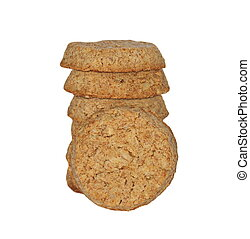 round integral biscuit  isolated on white background