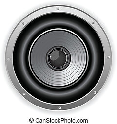 Round Isolated Sound Speaker - Vector - Round Isolated Sound...