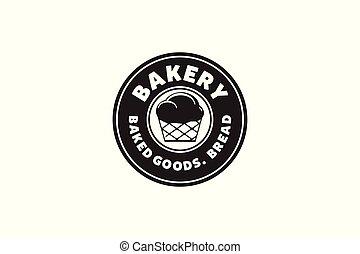 Round Label, Bakery logo