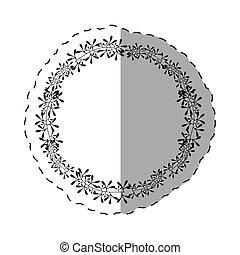 round label decoration thin line