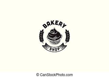 Round Label, Vintage Bakery Logo