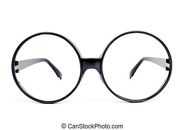 round-lens eyeglasses - closeup of a pair of round-lens...