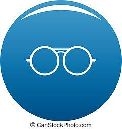 Round lens icon blue vector