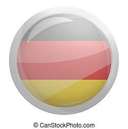 round light glass button icon symbol