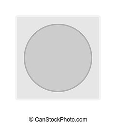 Round light switch technology illustration icon equipment vector icon. Interior power energy plastic
