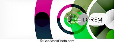 Round linear circle shapes background