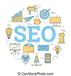 Round linear concept of SEO