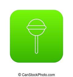Round lollipop icon green
