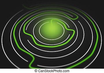 Round Maze Concept Image