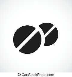 Round medical tablet icon