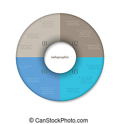 Round modern design template for infographics