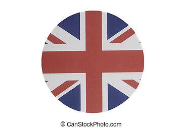 Round national flag of UK