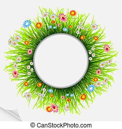Round natural frame