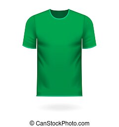 Round neck tee shirt in generic green color