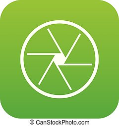Round objective icon digital green