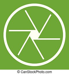 Round objective icon green