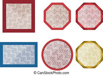 Round, octagon and square table coasters