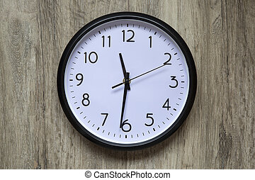 Round office clock - Blank clock face with hour, minute and ...