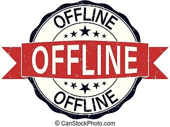 round offline rubber stamp web badge