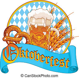Oktoberfest Celebration design - Round Oktoberfest ...