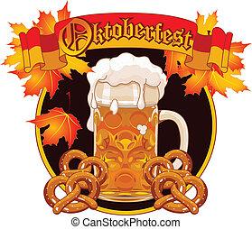 Oktoberfest Celebration design - Round Oktoberfest...