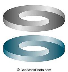 round optical illusion