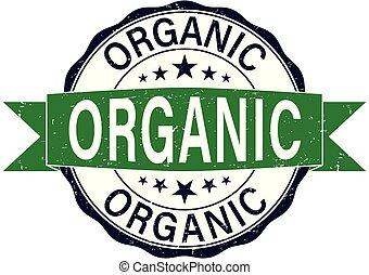 round organic rubber stamp web badge