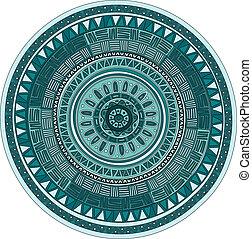 Round ornament mandala pattern