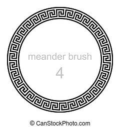round ornament meander, vector illustration