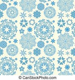 Round ornament seamless pattern