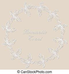 Round ornamental frame.