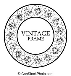 Round ornamental frame