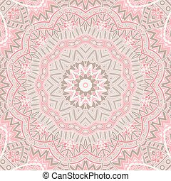 round ornamental lace background