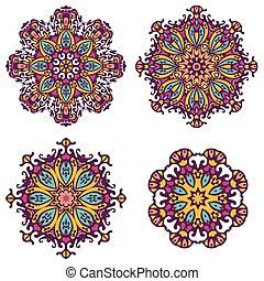 round ornaments, patterns and elements. Mandala background