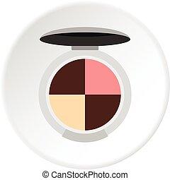 Round palette eye shadow icon circle