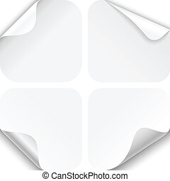 Round Paper Corner Folds - Set of four paper folds with...