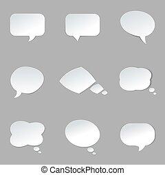 Round Paper Speech Bubble