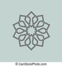 Round pattern in Arabic style