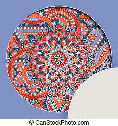 Round pattern with chakra