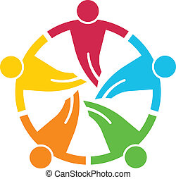 round., personengruppe, 5, v, gemeinschaftsarbeit