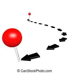 Round pin black path