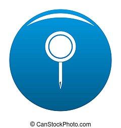 Round pin icon blue
