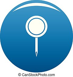 Round pin icon blue vector