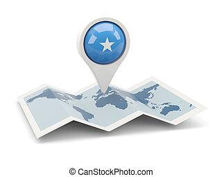 Round pin with flag of somalia