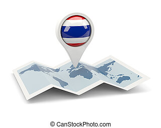 Round pin with flag of thailand