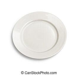 Round plate on white background