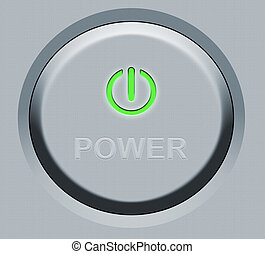 Round Power Button